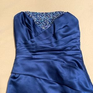 Blue formal/bridesmaid floor length dress
